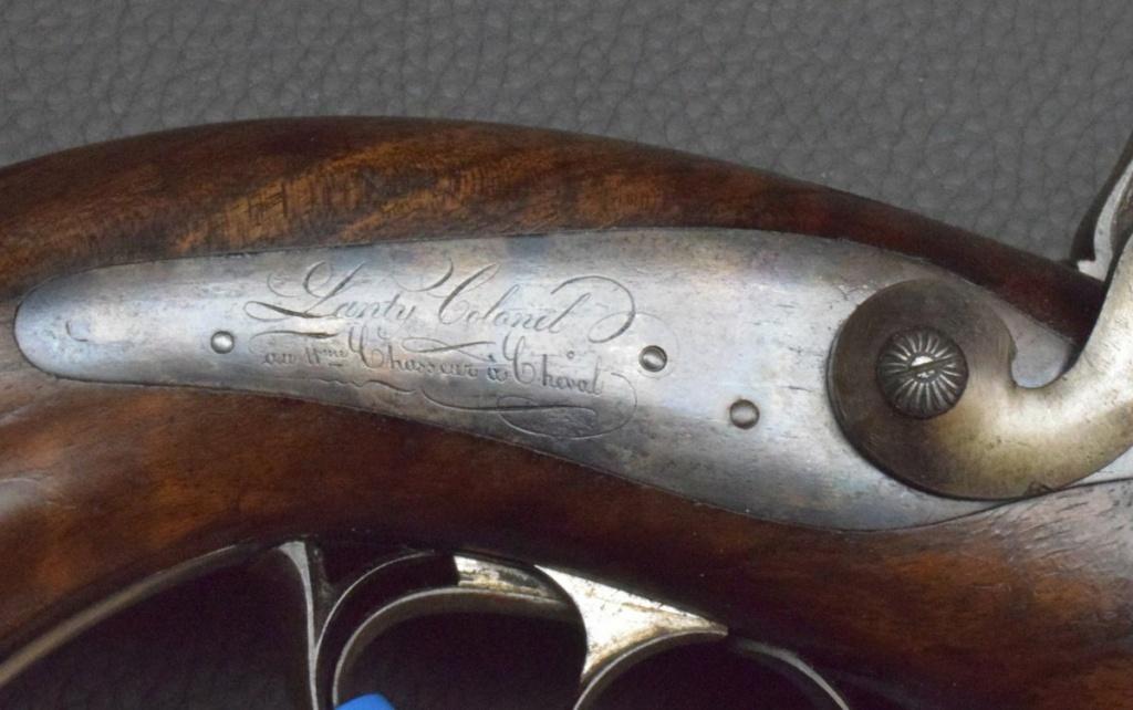 Pistolet double canon ,colonel de chasseurs à cheval????? Pistol11