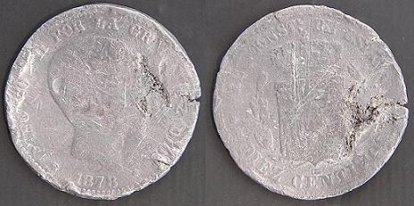 Isabel II, Cuartillo. Peró de que material? Alfons18