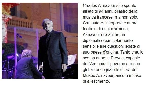 Addio a Charles Aznavour Aznavo10