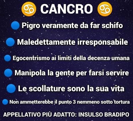 OROSCOPO   Cancro10