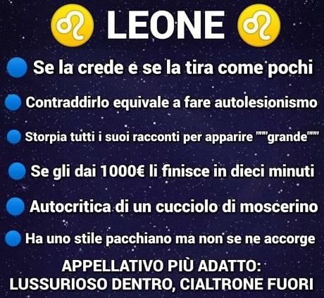 OROSCOPO   Leone10