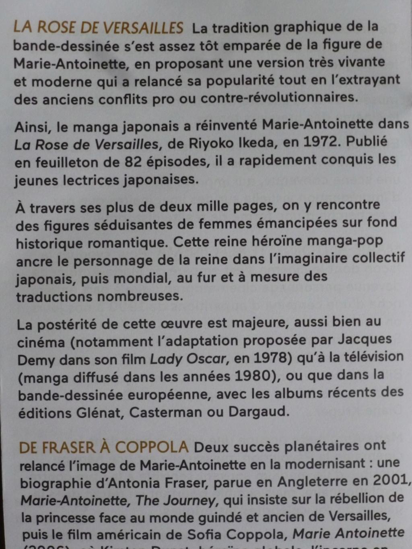LO mentionné dans le flyer de l'exposition Marie-Antoinette à la Conciergerie! P1070410