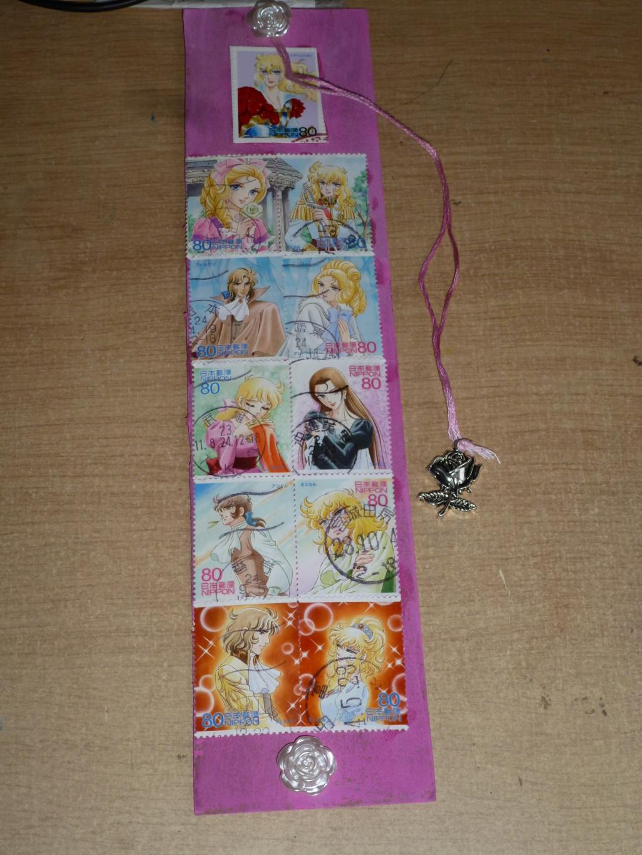 J'ai fait un marque-pages à partir des timbres LO P1080811