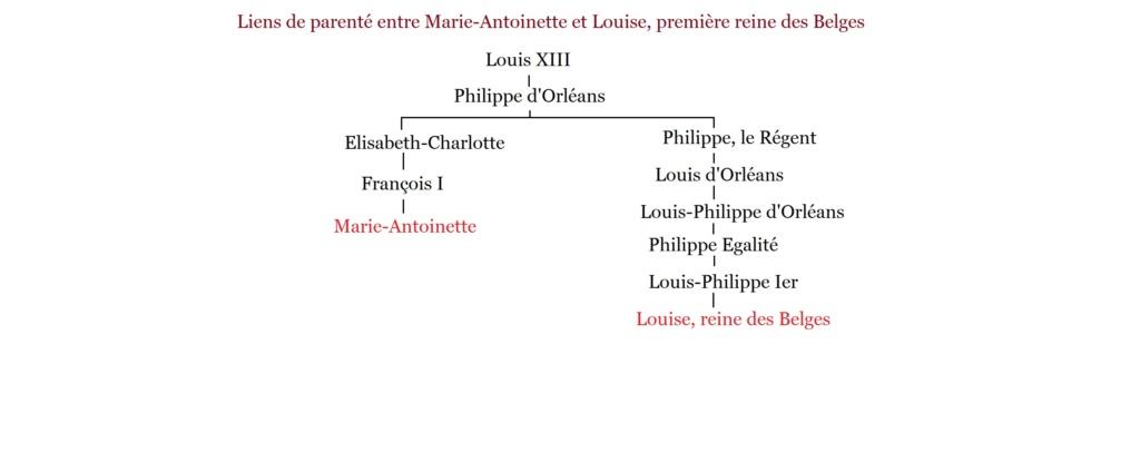 Parenté entre Marie-Antoinette et Louise, première reine des Belges Parent12
