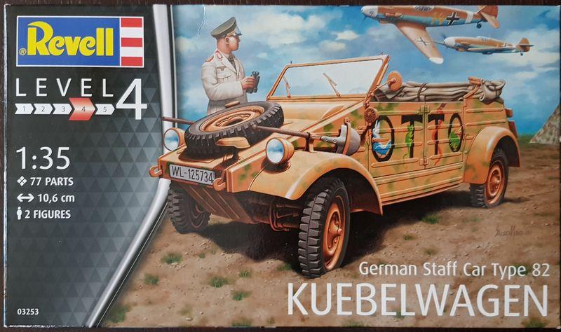 German Staff Car Type 82 Kuebelwagen 1:35 Revell 2018-137