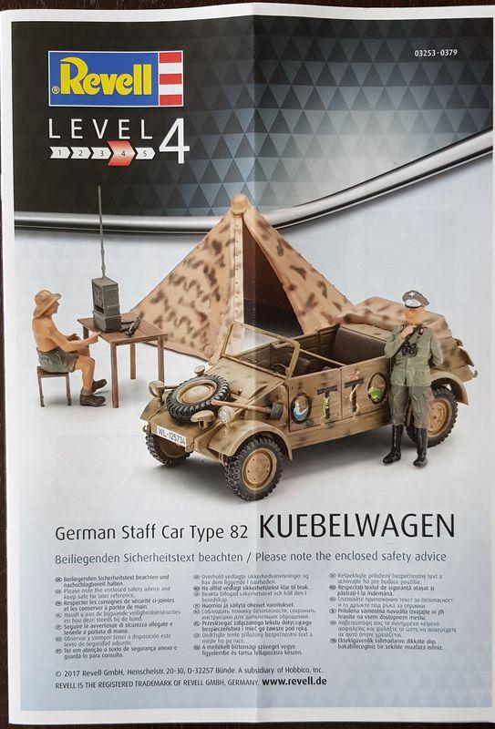 German Staff Car Type 82 Kuebelwagen 1:35 Revell 2018-139
