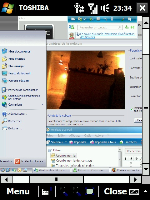 Réaliser une capture d'écran sous windows mobile Screen12