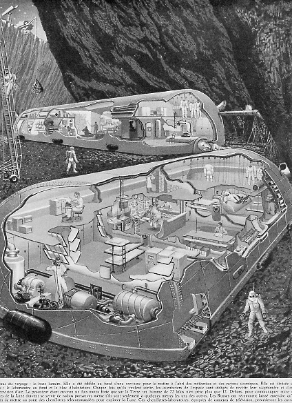 Radiations sur le sol lunaire : danger. Nouvelle étude.  Baselu10
