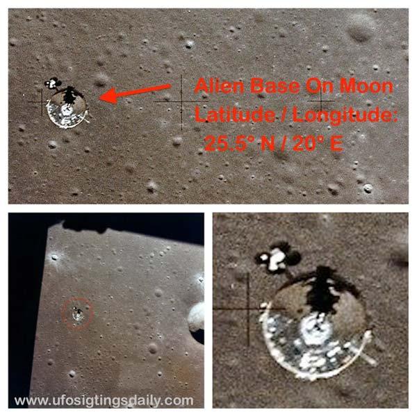Base d'aliens sur la Lune Ovni-l11