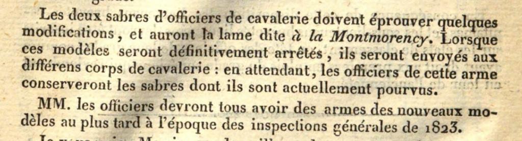 Sabres d'officier matriculés, au Modèle 1822 de ligne : point de situation Screen20
