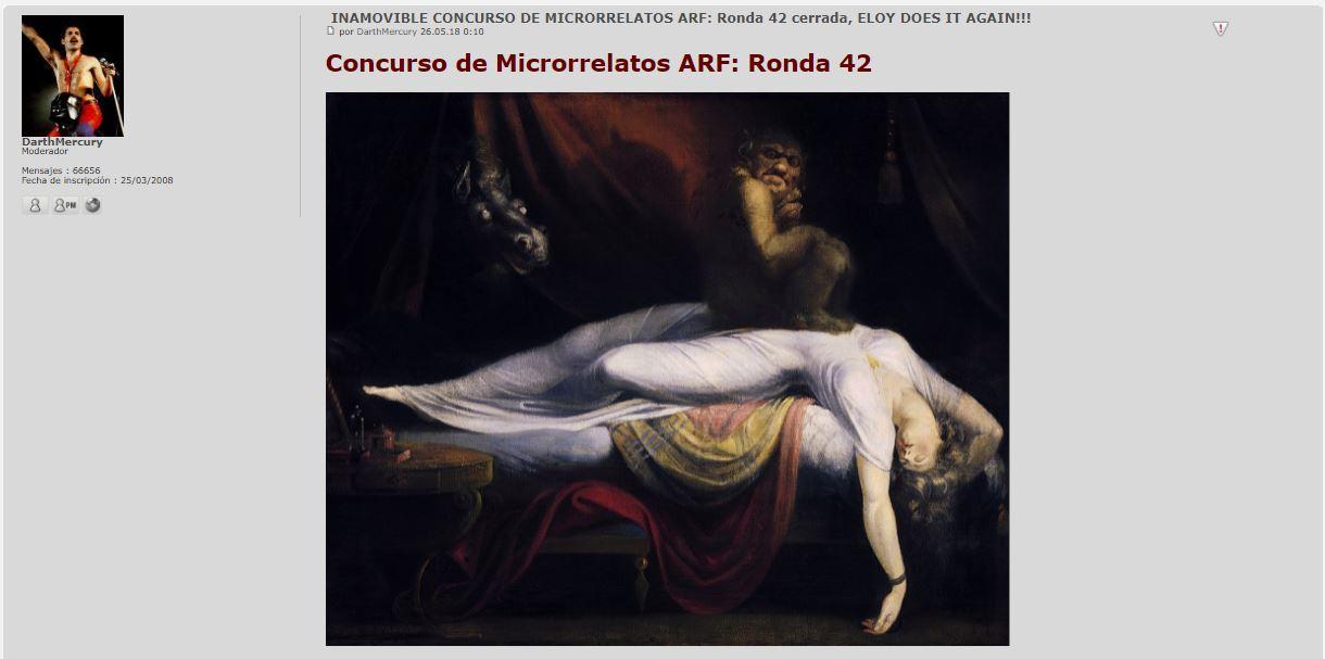 VII EDICIÓN: RONDA 10 DEL TERRORÍFICO CONCURSO DE MICRORRELATOS. GALA EN MARCHA. Inamov10