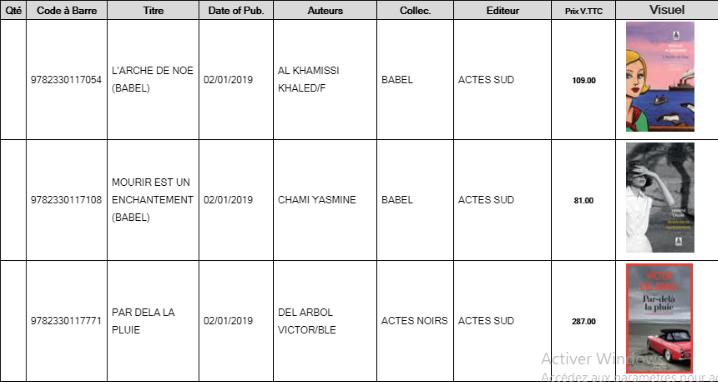 Librairie El Jadida : nouveautés des arrivages au 10 janvier 2019 00111
