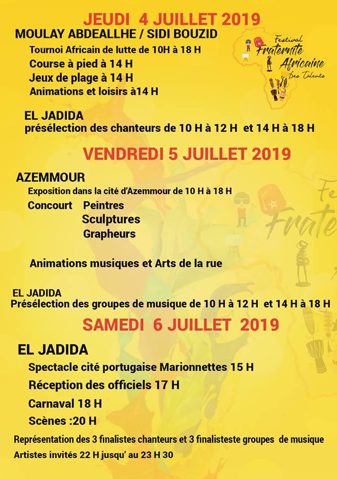 04/07 au 06/07 -  2ème festival Fraternité africaine des talents 42316810