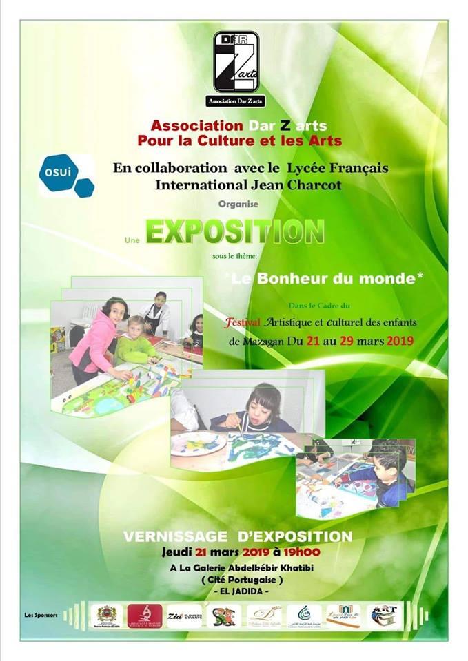 """21/03 au 29/03 - Exposition : """"Le bonheur du monde"""" Festival artistique et culturel des enfants 54424610"""