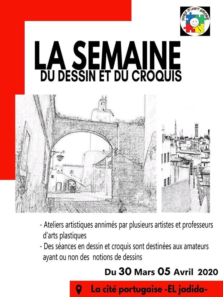 30/03 au 05/04 - Ateliers :  La semaine du dessin et du croquis 84728110