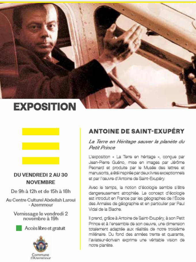 """02/11 au 30/11 - Exposition :  Antoine de Saint-Exupéry   """"La Terre en héritage, sauver la planète du Petit Prince"""" La_ter10"""