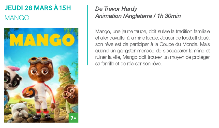 """19/03 au 29/03 - Evènements :  """"FICAM Maroc 2019""""  (Festival International du Cinéma d'Animation de Meknès)  Ecole Nationale de Commerce et Gestion  Rue de Fès Mango10"""