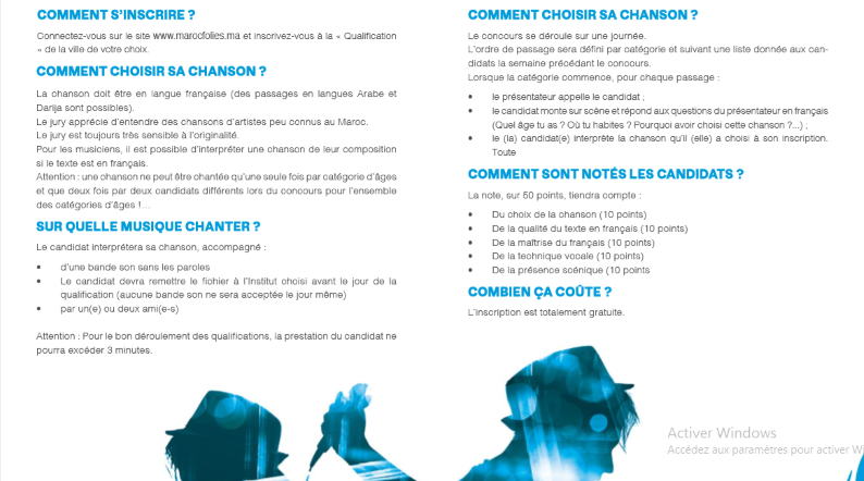 """16/03 - Concours de la chanson francophone :  """"Maroc Folies 2019"""" Maroc_11"""