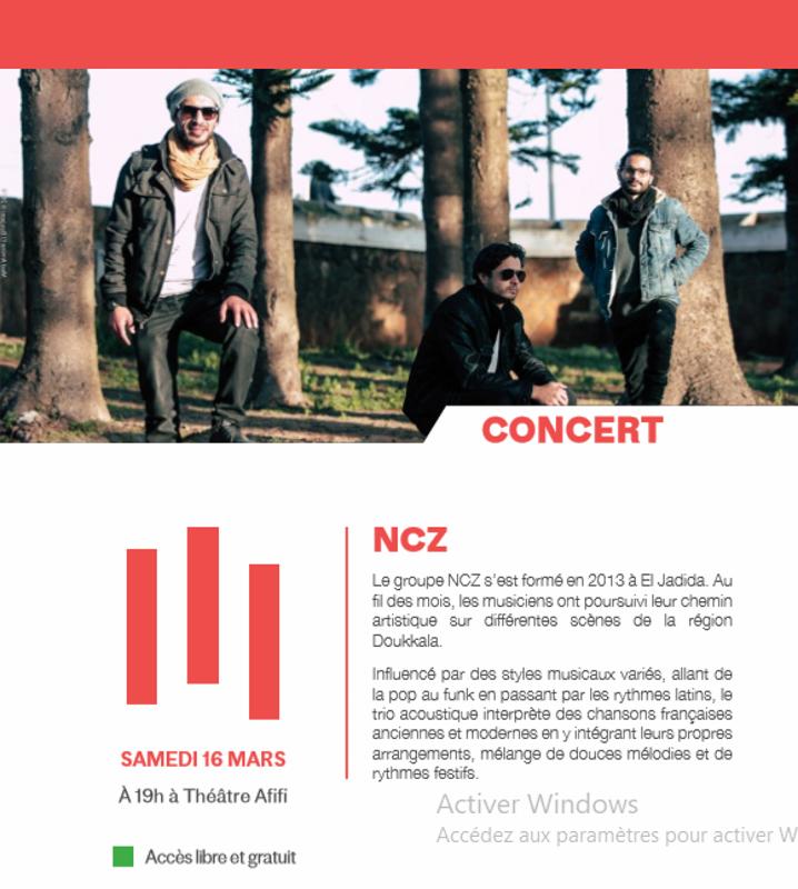 """16/03 - Concert :  """"NCZ""""  Théâtre Afifi  19 heures Ncz10"""