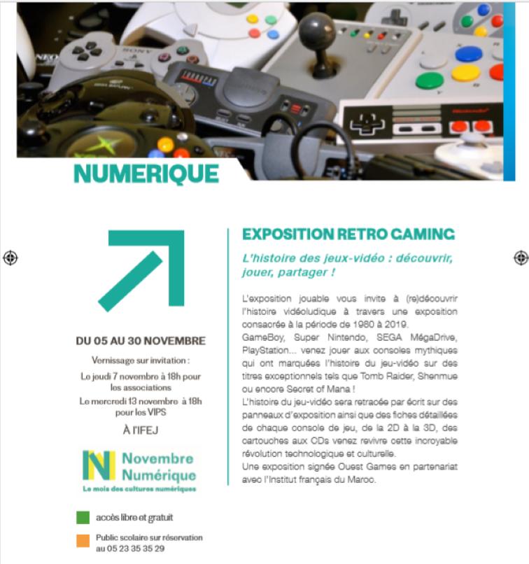 07/11 - Expositions : Novembre numérique Institut français 18 heures Numzor11