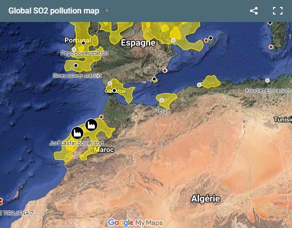 Jorf-Lasfar : faut-il s'inquiéter de la pollution au dioxyde de soufre (SO2) ? Pollut12