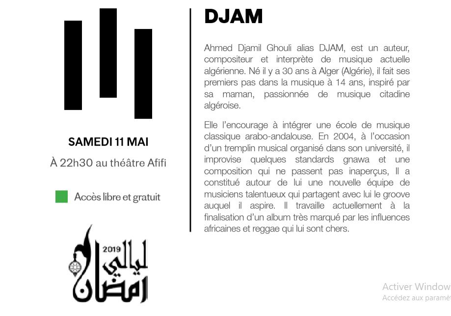 11/05 - Nuits du Ramadan :  DJAM  Théâtre Afifi  22 heures 30 Sans_t31