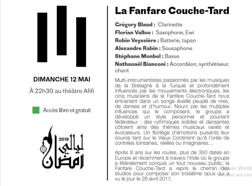 """12/05 - Nuits du Ramadan : """"La fanfare couche tard"""" Sans_t34"""