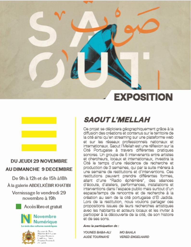 """29/11 au 09/12 - Exposition : """"Saout L'Mellah"""" Saout_10"""