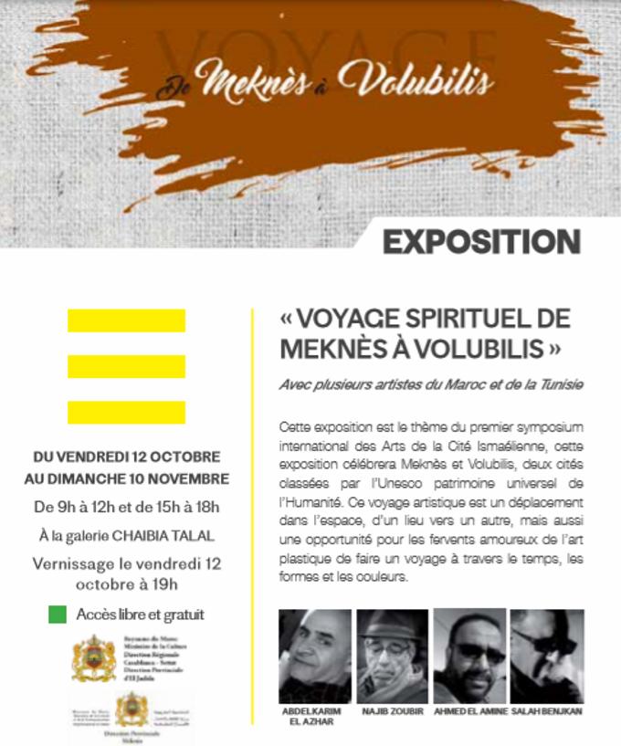 """12/10 au 10/11 - Exposition : """"Voyage spirituel de Meknès à Voulubilis"""" Voyage10"""