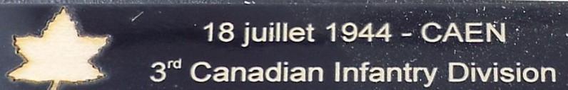 3ème CANADIAN INFANTRY DIVISION Caen111