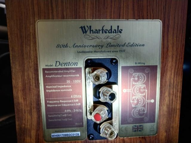 Wharfedale - Denton 80th Anniversary - Bookshelf Speaker (Used) Img_2285