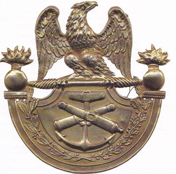 Plaques de shako, artillerie de marine 99d4b610