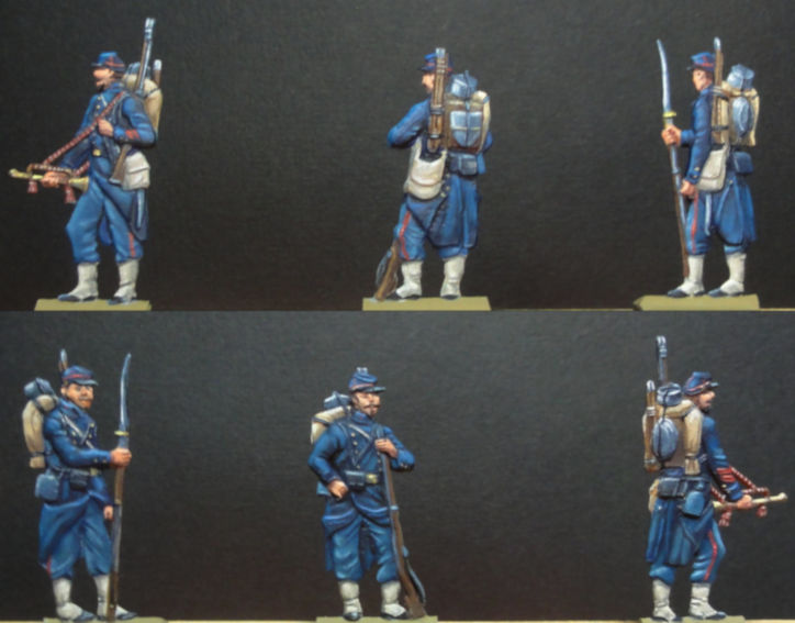 Infanterie de Marine Bazeilles 1870 figurines plates 30mm Bazeil11