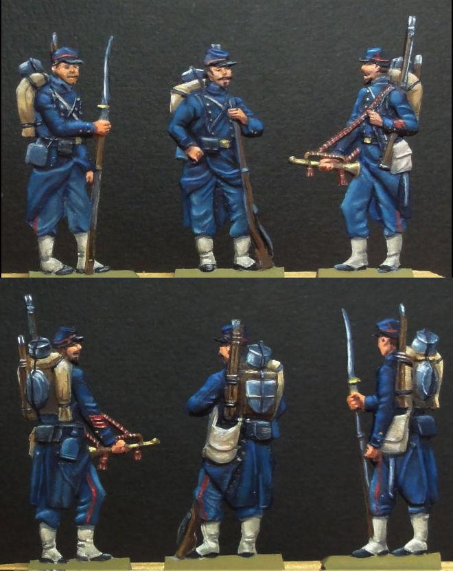 Infanterie de Marine Bazeilles 1870 figurines plates 30mm Bazeil12
