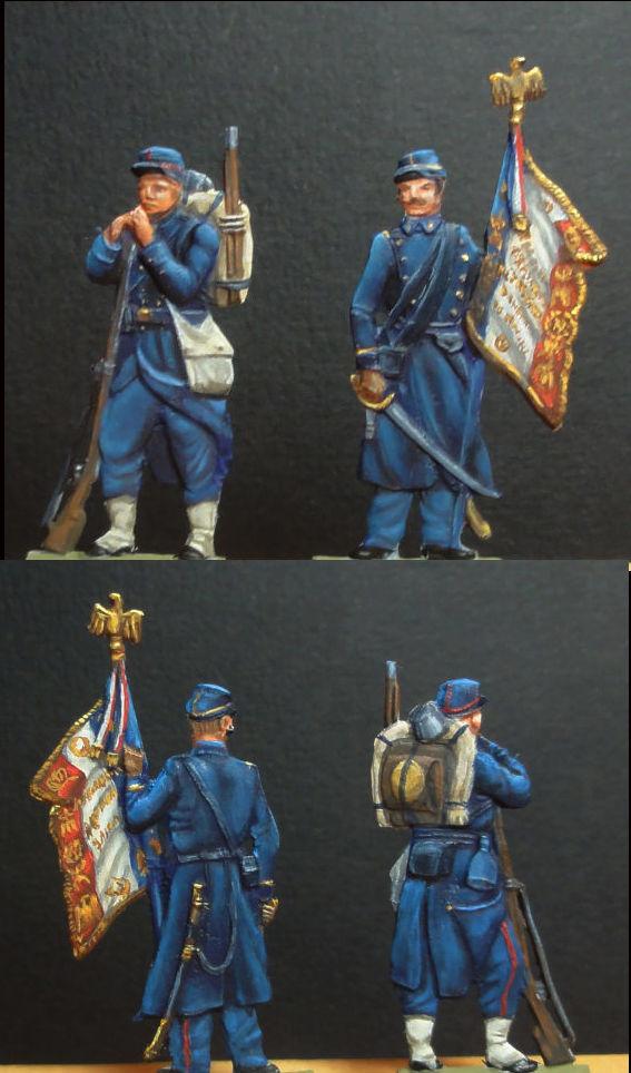 Infanterie de Marine Bazeilles 1870 figurines plates 30mm Bazeil14