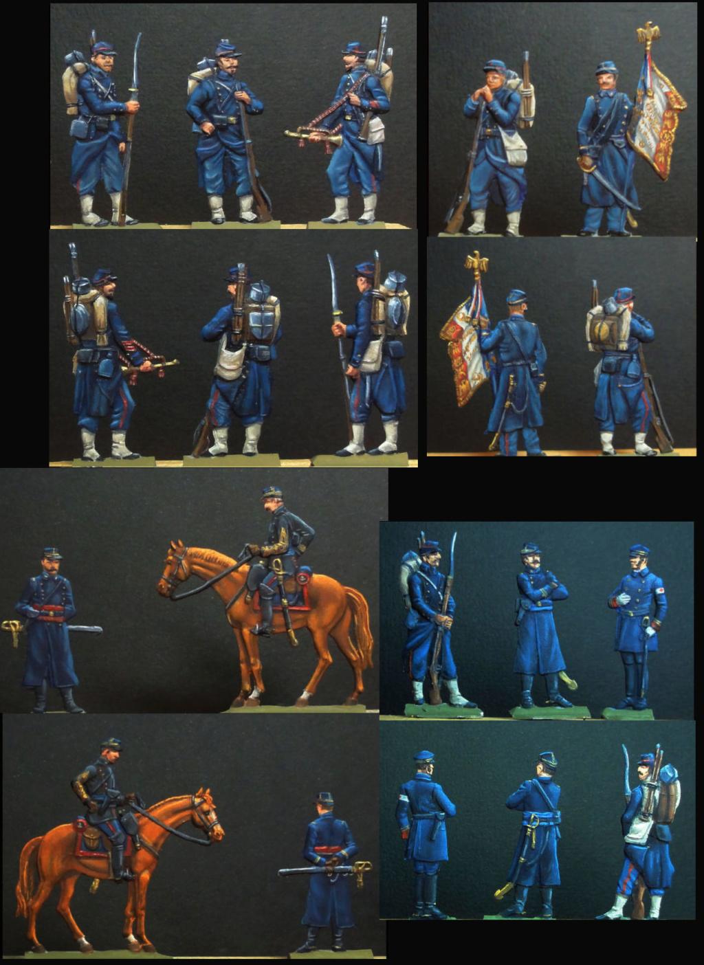 Infanterie de Marine Bazeilles 1870 figurines plates 30mm Bazeil17
