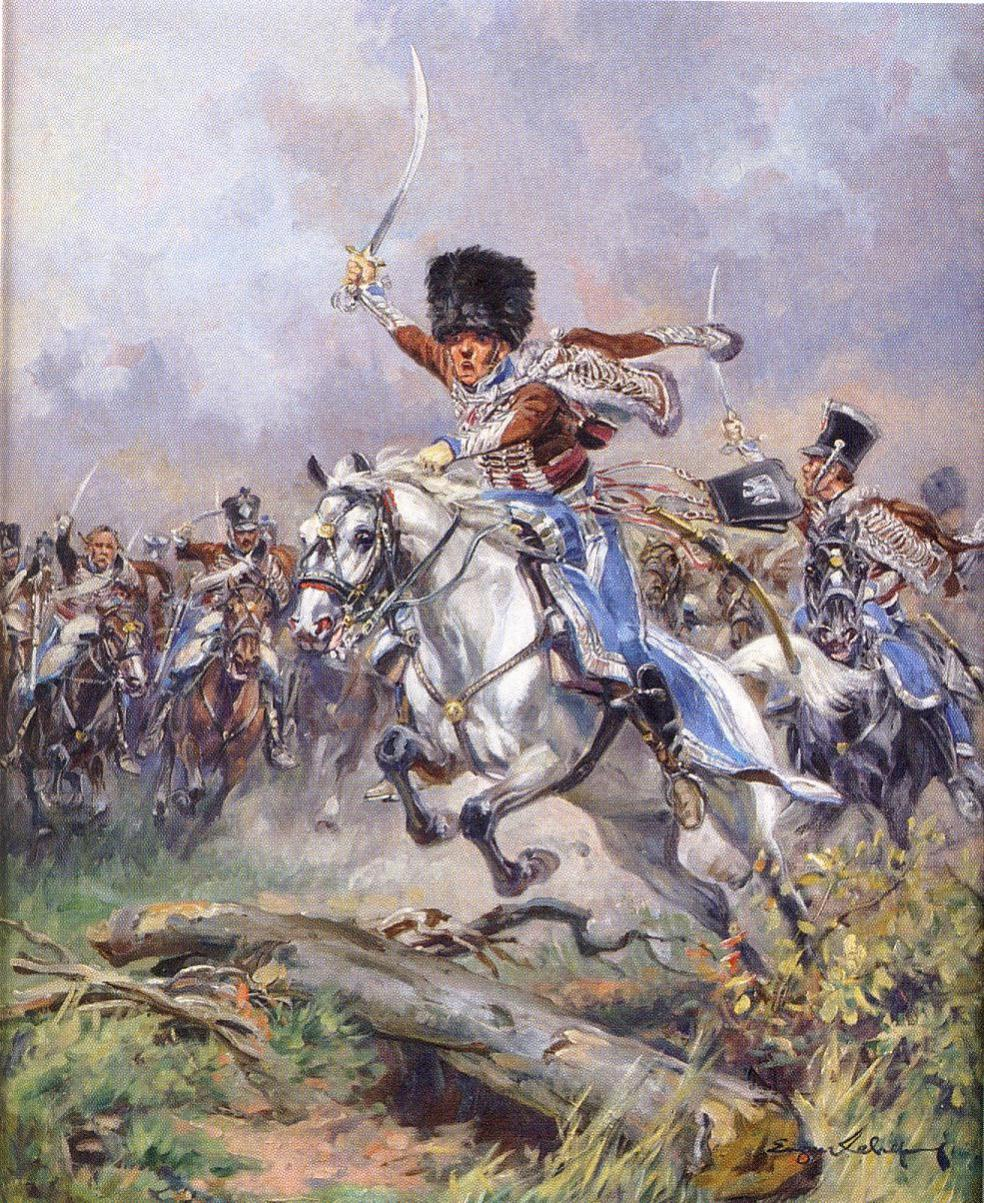 Capitaine du 2ème régiment de Hussards - Terminé Charge10