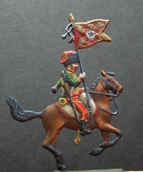 Hussard 1806 et étendard des dragons de la Reine de Prusse Dsc00411