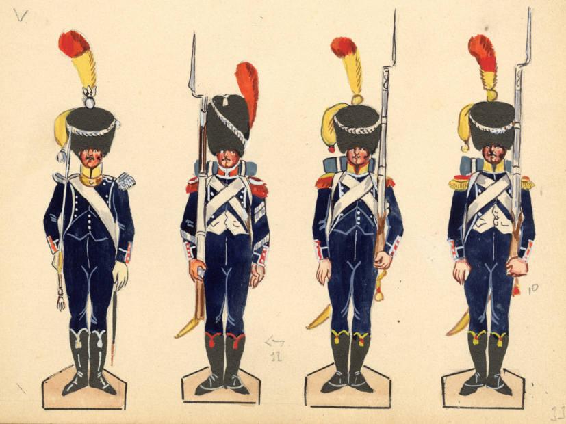 Vitrine Alain 2  Cavalerie légère   Hussard du 14e régiment 1814 MM54mm - Page 11 Img20111