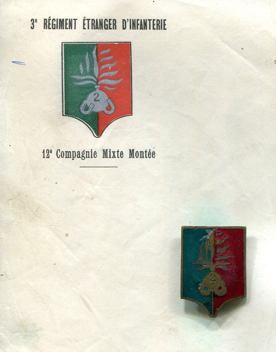 Insignes de compagnies sahariennes, portées, montées. Compag10
