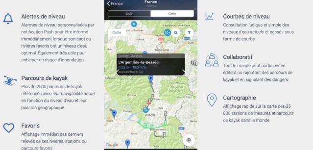RiverApp / Application des niveaux d'eau des rivières en France Rivera11