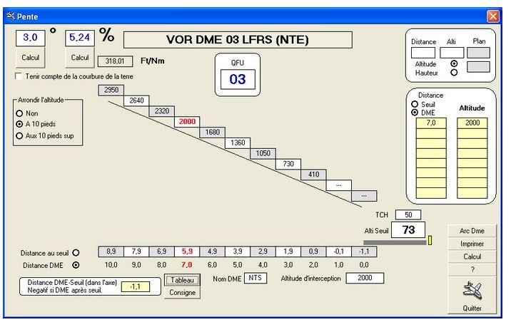 simulateur de calcul de taux de pente  et Simulateur GNS430  Captur13