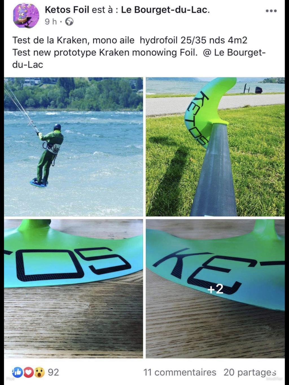 """Kétos """"Kraken"""" mono wingfoil. D2650c10"""