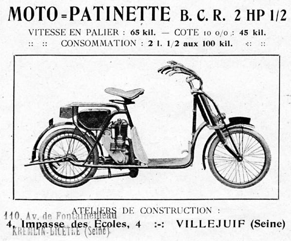 Histoire d'une marque d'avant-guerre - B.C.R. 1920-b10