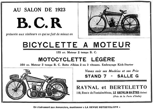Histoire d'une marque d'avant-guerre - B.C.R. 1923-b13