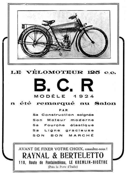 Histoire d'une marque d'avant-guerre - B.C.R. 1923-b14