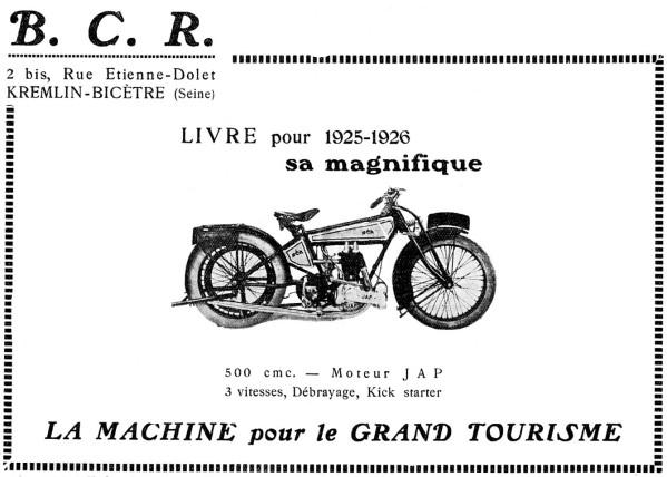 Histoire d'une marque d'avant-guerre - B.C.R. 1925-b11