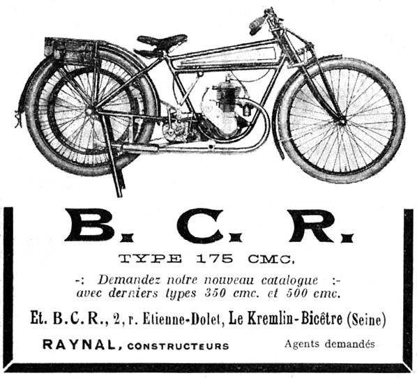 Histoire d'une marque d'avant-guerre - B.C.R. 1925-b13