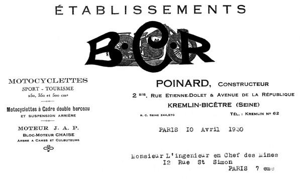 Histoire d'une marque d'avant-guerre - B.C.R. 1930-b11
