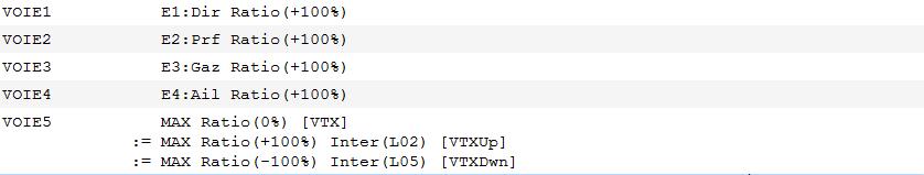 Modifier la puissance du VTX en vol avec 1 inter unique Vtx110